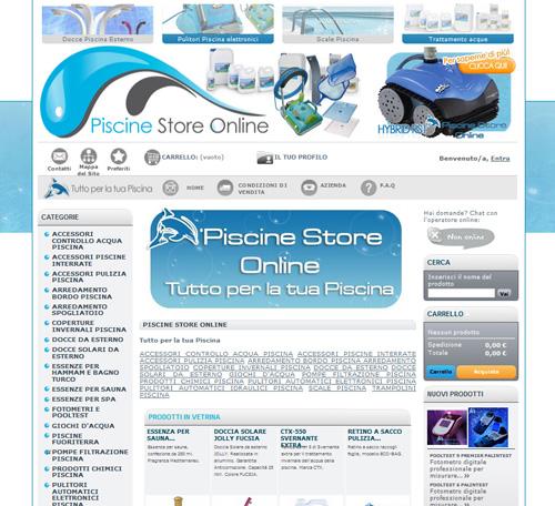 Realizzazione sito e commerce for Piscine online